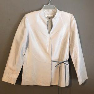 Jackets & Blazers - Silk Button Up Blazer with Tie